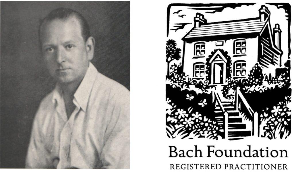Photo d'Edouard Bach avec le logo de la Bach Foundation